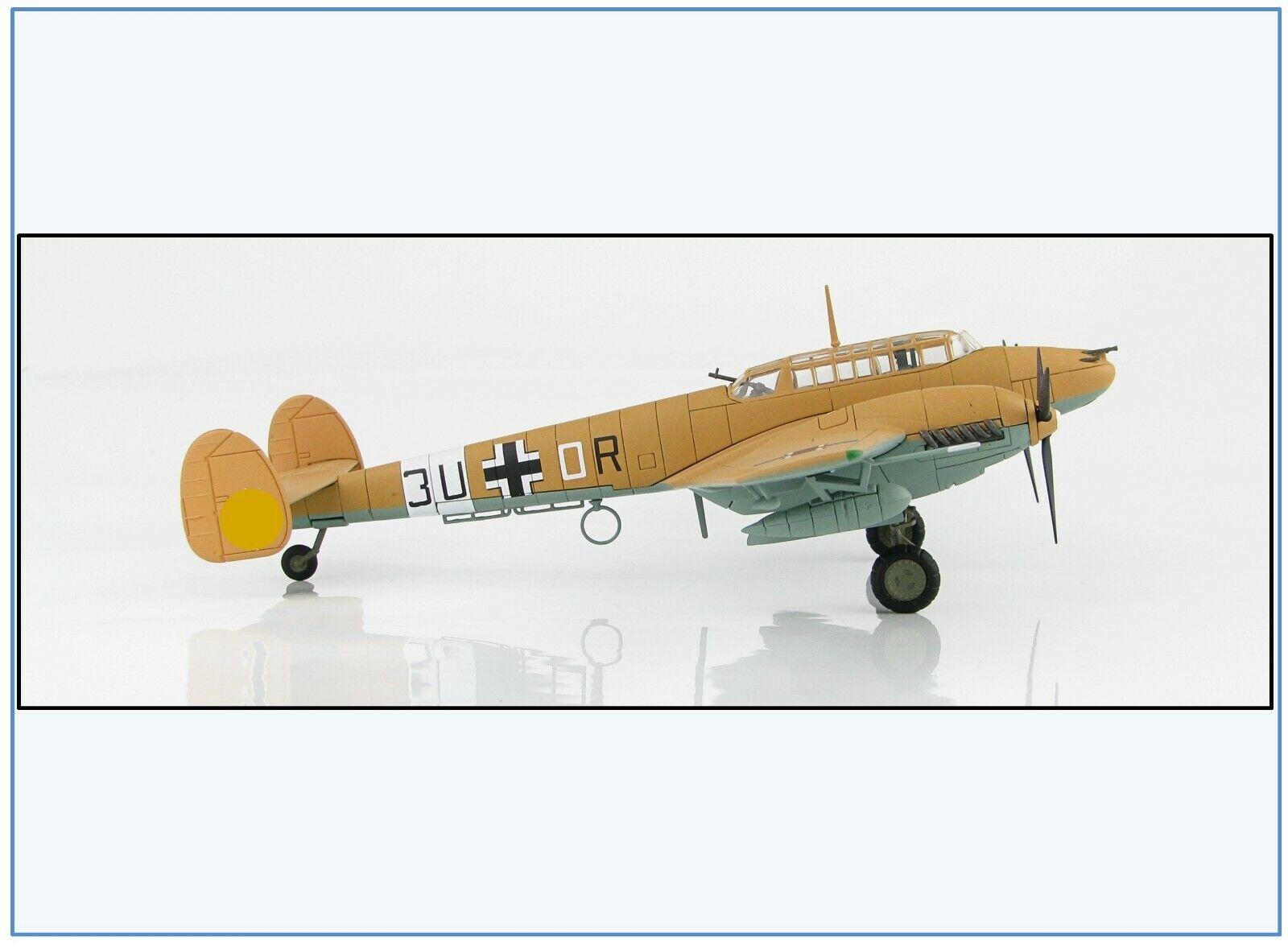 HA1815 Messerschmitt Bf-110E-2 Bf-110E-2 Bf-110E-2 trop 7. ZG 26, Libyen 1942,Hobbymaster 1 72 NEU &  | New Style  0ba865
