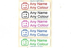 50-Printed-Lego-Head-iron-on-Name-Tags-tapes-Labels-School-clothes-personalised