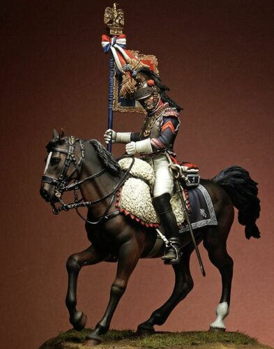Pegaso 75mm Eagle Bearer 1st Rgt of Cuirassiers 1815 75917 Unpainted Metal Kit