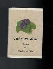 Quellen der Freude - Claudius bis Hesse - 1954