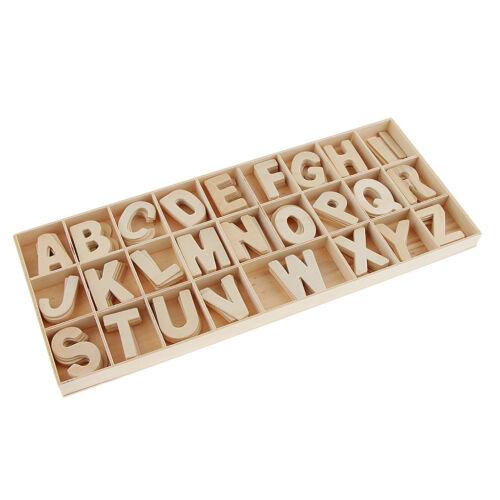 156pc Set Wooden Letter Wood Upper Case Letters Alphabet for Arts Crafts DIY