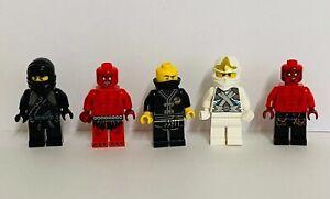 Lego Ninjago Minifigure Kai  Cole Zane Jay Job Lot with weapons X 4
