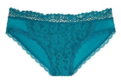 Body by Victoria Secret Lace Front Bikini Panty XL ~ Antique Gold or Blue Marble