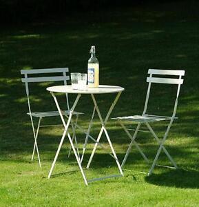 Tavoli In Metallo Da Esterno.Set Tavolo E 2 Sedie In Metallo Da Giardino Pieghevole Arredo