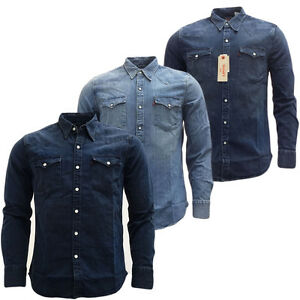 000aa932ea38c7 Image is loading Mens-Shirts-Levi-Strauss-Long-Sleeve-Denim-Shirt