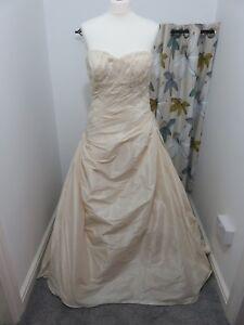 Eternity-Bridal-Wedding-Dress-Size-14-Gold