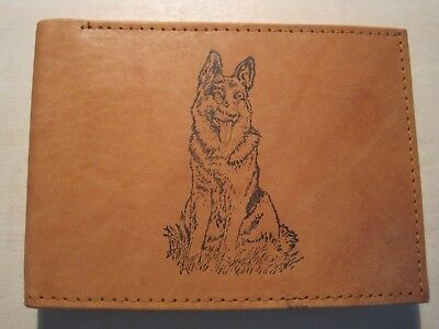 Pointer Gundog Mens Leather Wallet BLACK or Brown HPR german shorthaired 282