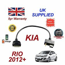 For KIA Rio iPhone 3 3gs 4 4S & 30 pin iPod USB & 3.5mm Aux Audio Cable 2012+