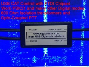 Details about Icom USB CAT control and Digimode Interface - PSK31, SSTV,  Echolink and more