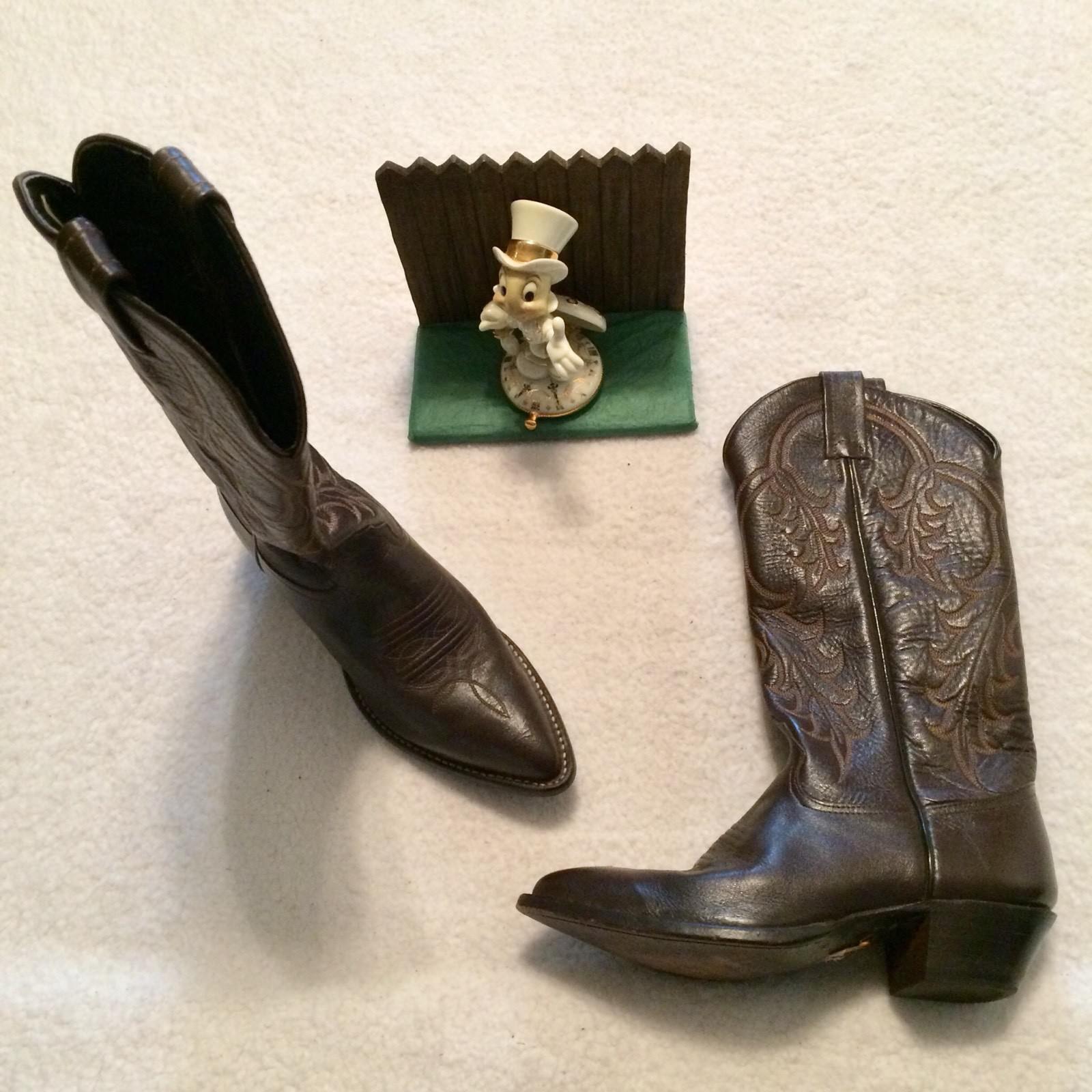 Tony Lama Damenschuhe Cowboy Stiefel Größe 5 M Braun.. Very Nice 08615011 1995