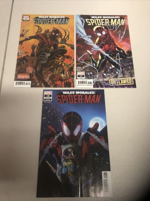 MILES MORALES SPIDER MAN #s 17,17,18 Variant. 1st Cameo,Full Spider Clone App