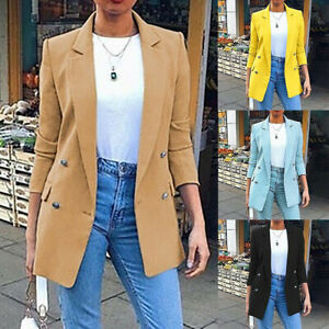 Fashion-Women-Coat-Slim-Blazer-Turn-Down-Collar-Jacket-Formal-OL-Suit-Outwear