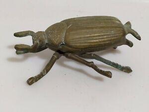 Posacenere insetto ottone BRASS scarabeo  portacenere vintage collezione raro