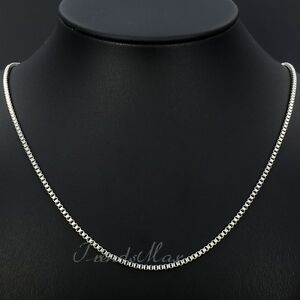 Hot-2MM-MENS-Boys-Chain-Box-Link-Silver-Tone-Stainless-Steel-Necklace-16-36inch