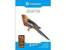 50 FOGLI A4 GLOSSY PHOTO PAPER 150gsm - a getto d'inchiostro compatibili