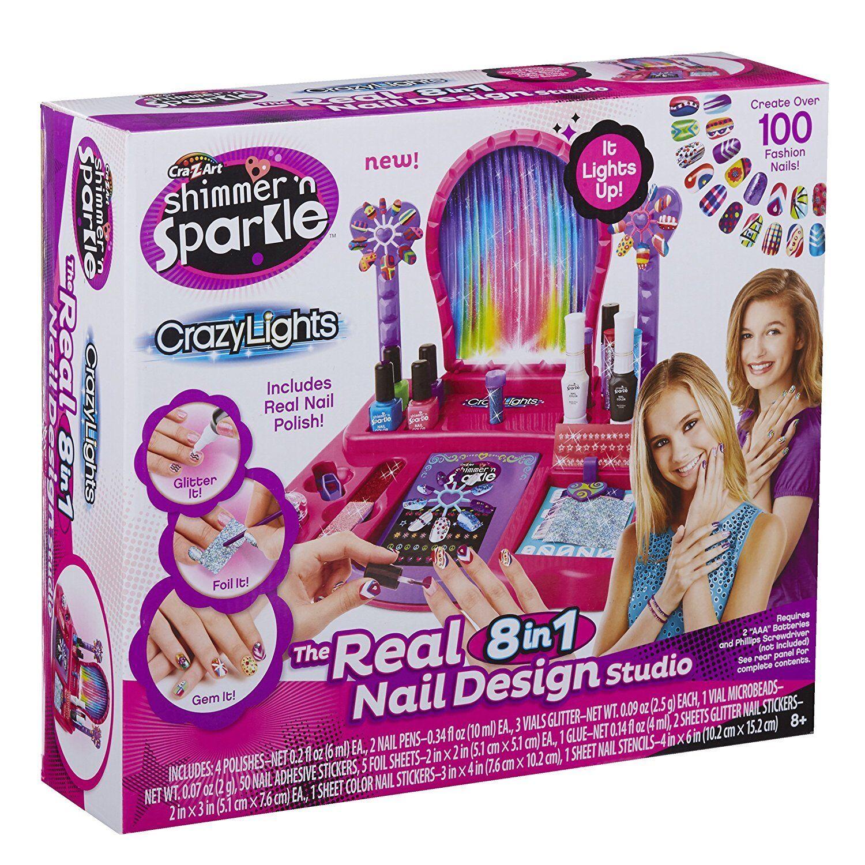 Cra-z-Art Shimmer & Sparkle Crazy Lights 8 in 1 Nail Design