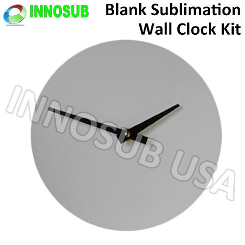 Great for Home Wall Decoration Sublimation Blank Wall Clock Kit 8.125 Inch