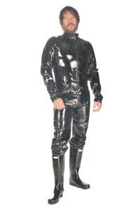 Plastic-Male-Catsuit-Short-Version-PVC-Suit-Vinyl-Fetish