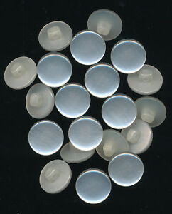 20-x-WHITE-PEARLISED-BUTTONS-SHANK-Flat-face-14mm