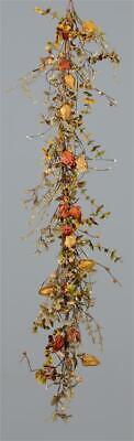 New Primitive Rustic Fall SUNFLOWER PUMPKIN GOURD GARLAND Vine Swag