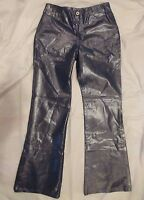 Limited Too Glittery Silver Blue Girls Stretch Boot Leg Jeans Size 14