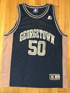 Vintage-90s-GEORGETOWN-HOYAS-Starter-basketball-jersey-XL-50-size-48-blue-gray