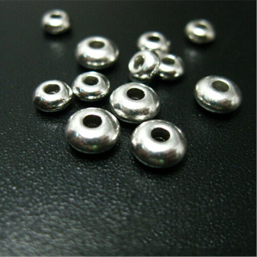 100xSilver Stainless Steel Round Spacer Bead DIY Manual Jewelry Making Wholesale