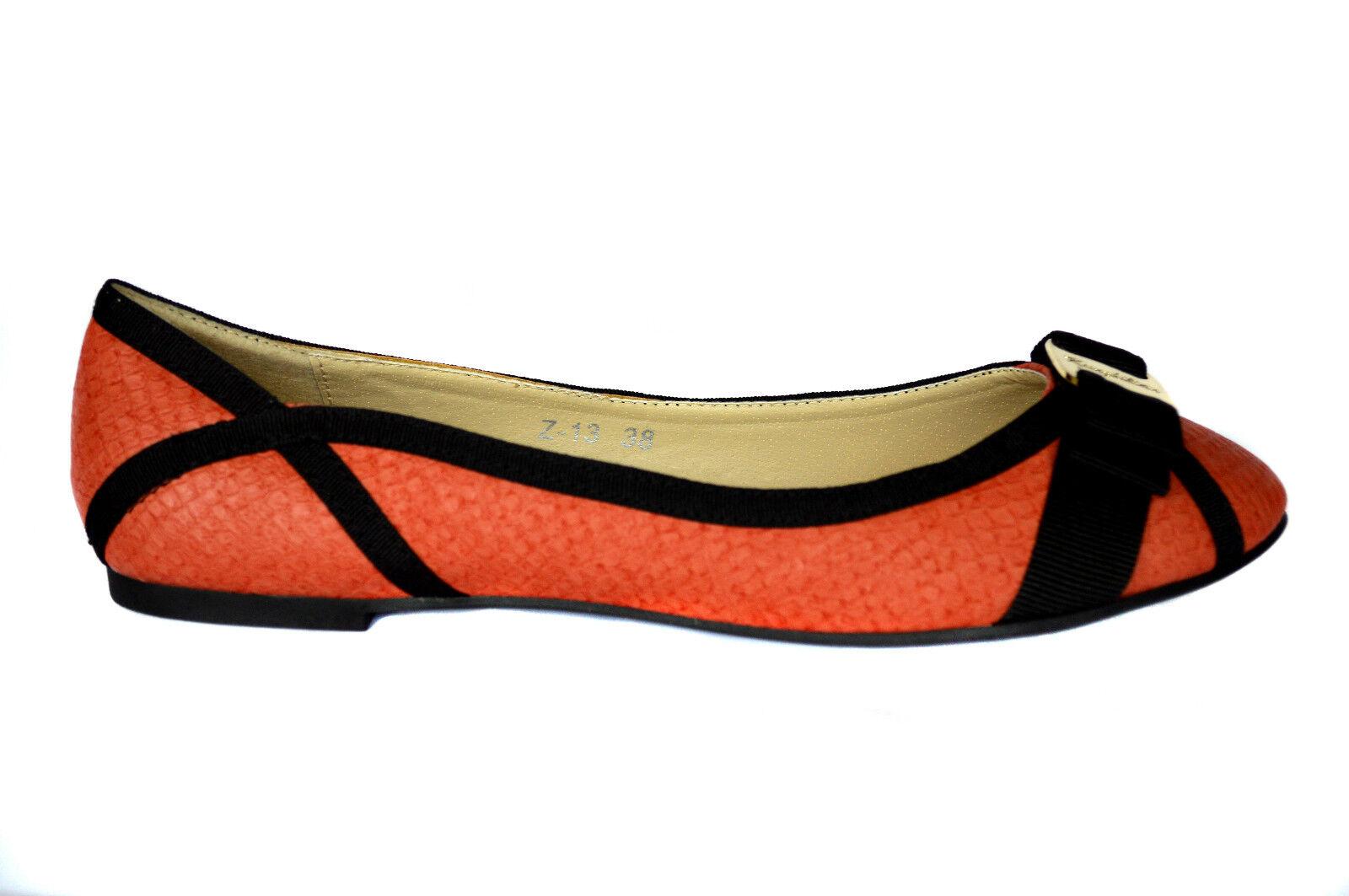 Nuevo Elegante Bailarinas Señoras Estilo  Zapatos  Bajos Estilo Señoras Pantuflas Efecto Cuero 3f6331