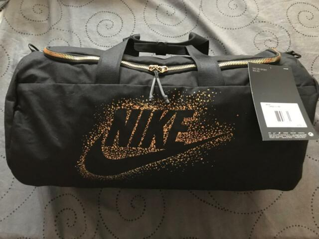 Nike Metallic Gold Sports Gym Workout Yoga Travel Duffel Bag Ba5752 ... 9914c6c975913