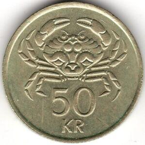 1987-Islanda-50-KRONUR-Coin-pochi-centesimi-2-LIBBRE