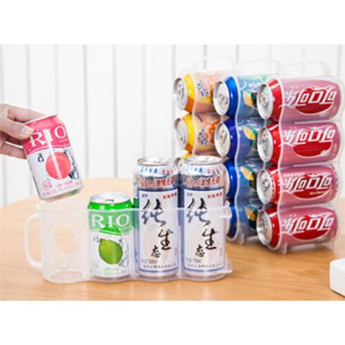 Beer Soda Can Holder Storage Kitchen Home Fridge Organization Rack Plastic Space