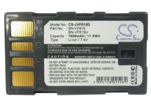 Li-ion batería Para Jvc gz-hd10ek gz-hd300r Gz-mg130us Gz-ms100 Gz-mg175 Gz-mg135