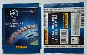 1X PACKET PANINI UEFA CHAMPIONS LEAGUE 2010-2011 CONTÉM 5 CROMOS pochette tüte