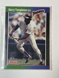 Garry Templeton Donruss 89' # 483 Error Card No Period After Inc Very Rare