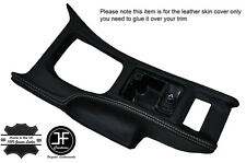 GREY STITCH CONSOLE GEAR SURROUND LEATHER COVER FITS NISSAN 300ZX Z32 90-96