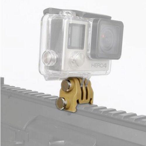 4 Airsoft Tan Gopro Weaver//carril Picatinny 20mm Pistola de montaje de cámara HERO 1 2 3 3