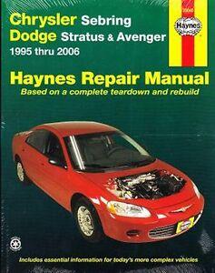 1995 2006 chrysler sebring stratus avenger haynes repair service rh ebay com Chrysler Stratus 1994 Chrysler Stratus 1998