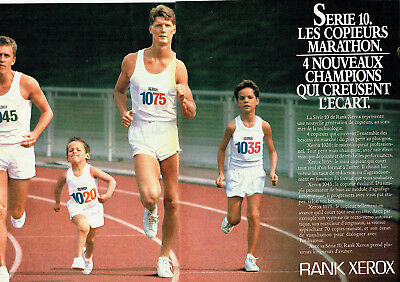 2pag Great Varieties Publicité Advertising 098 1983 Copieurs Marathon Série 10 Rank Xerox