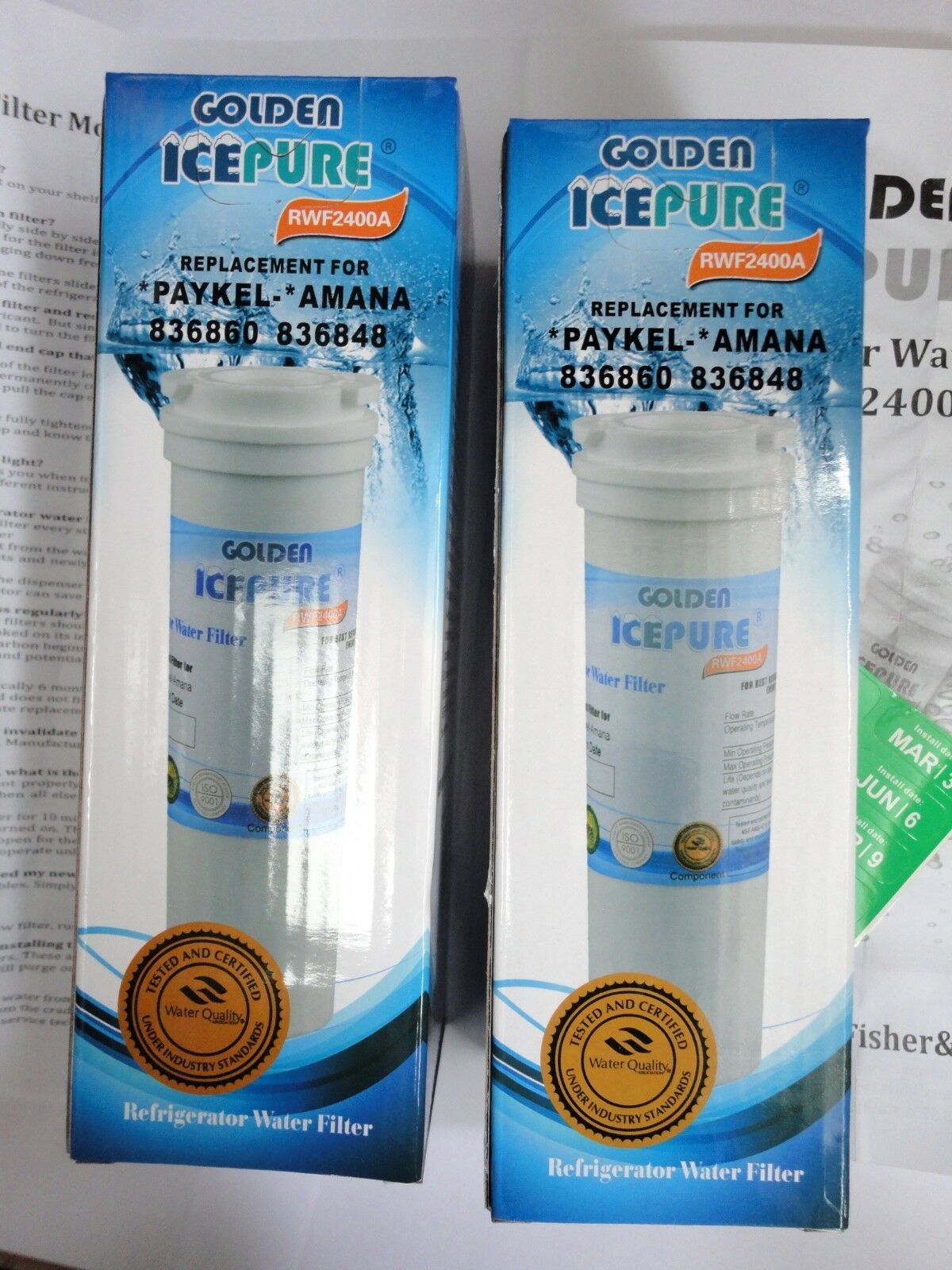 2x Fisher Paykel fridge freezer R0185011 R0185011 R0185011 compatible water filter 9d9799
