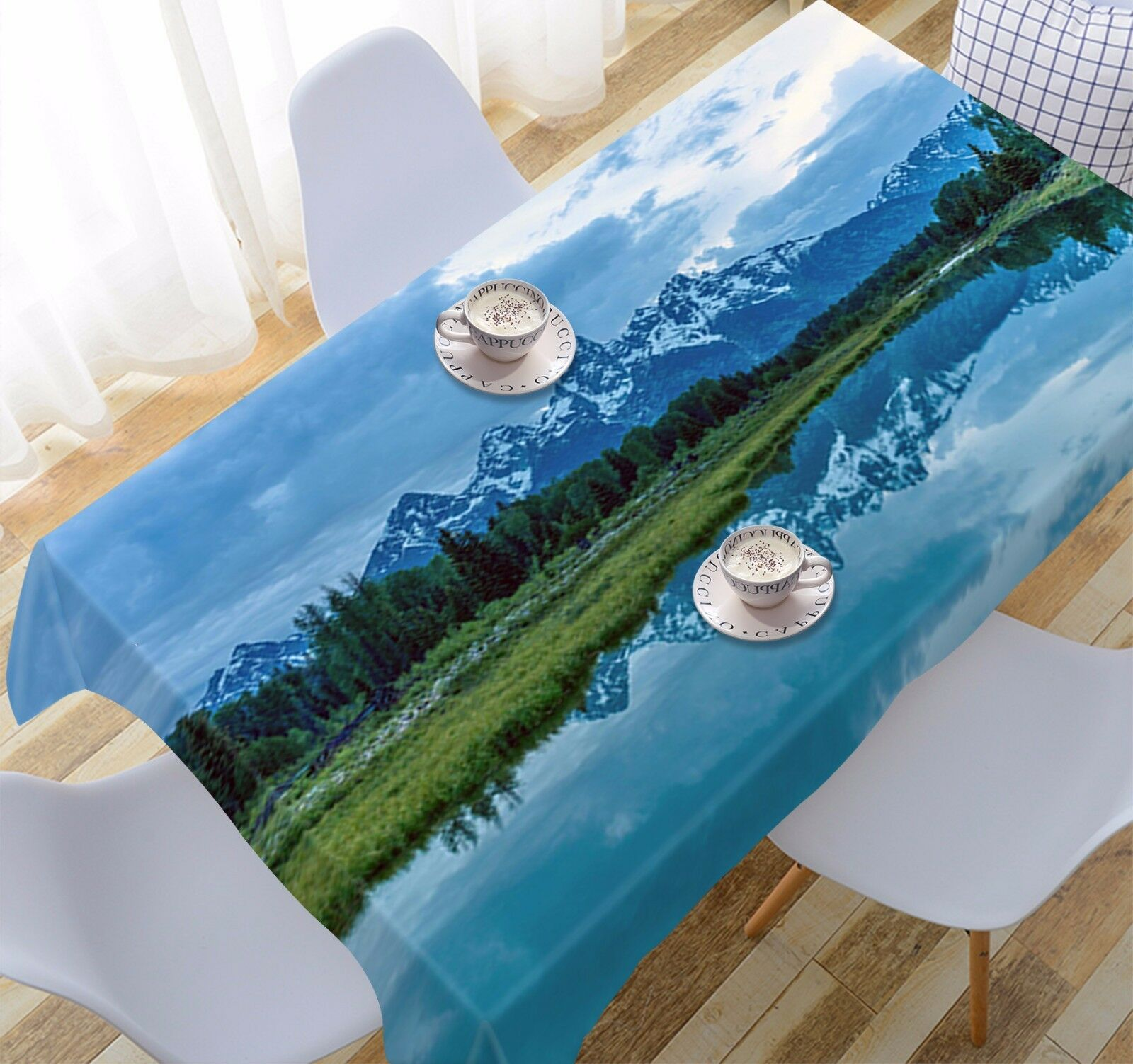 3D Clear Lake 424 Tablecloth Table Cover Cloth Birthday Party Event AJ WALLPAPER