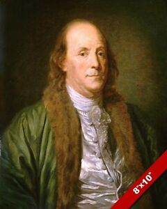 Historic Art Reprint BENJAMIN FRANKLIN Portrait Painting USA Founding Father