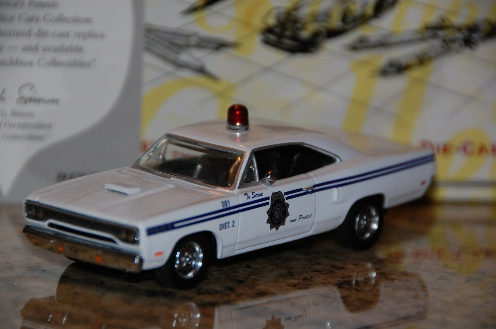 Matchbox Coll. 1970 Plymouth Road Runner Denver Co. Police Dept. DYM38022