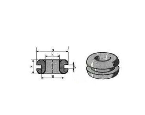 10 Kabeldurchführungstülle d=16 Gummitülle KABELTÜLLE Kantenschutz