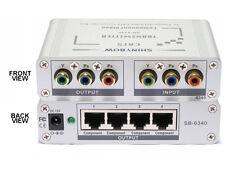 1x4 Component Video Transmitter Extender over CAT5 Splitter + Loop Out SB-6340T