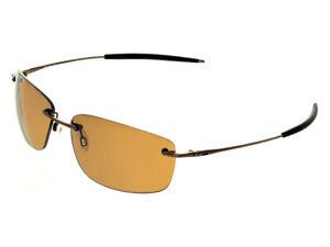 Oakley-Nanowire-1-0-Polarized-Sunglasses-30-754-Brown-Chrome-Bronze-no-etching