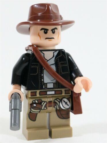 MADE OF GENUINE LEGO PARTS LEGO INDIANA JONES MINIFIGURE /& REVOLVER