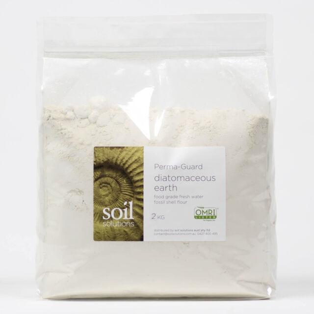 Diatomaceous Earth Food Grade Fossil Shell Flour 2kg Perma-Guard   Express