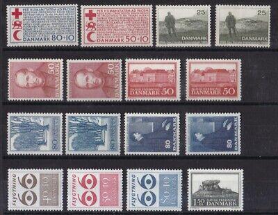 Dänemark Postfrisch Jahrgang 1966 Siehe Bild