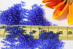 11-0-Old-Time-Glass-Vintage-French-Bodmer-Blue-Seed-Beads-1oz