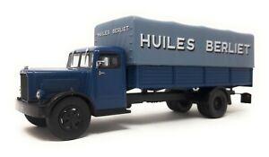 IXO-1-43-Truck-Berliet-GDC-blue-Huiles-Berliet-model-car-metal-plastic